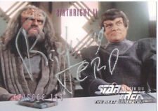 RICHARD HERD Signed Trading Card Admiral Owen Paris In STAR TREK COA