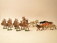 Johillco Quo Vadis set: 1 chariot, 1 driver, 10 foot soldiers, 5 lions & tigers