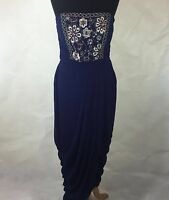 New little mistress / asos embellished bandeau maxi party prom bridesmaid dress