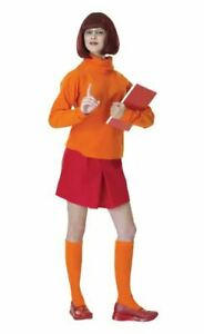 Rubie's Scooby-Doo Velma Costume Adult  to Size 12 PREOWNED