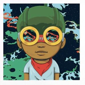 """Hebru Brantley """"Space Is The Place"""" Limited Edition X/100, Signed, Numbered"""