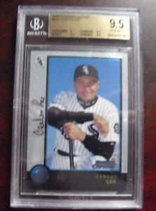 BGS 9.5 1998 Bowman Chrome Carlos Lee Rookie Card #428