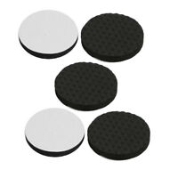 Home Office Self Adhesive Table Chair Legs Furniture Felt Pads Black 30mm 5pcs
