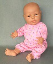 "Berjusa La Newborn Doll - 17"" Vinyl Babydoll Vgc"
