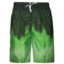 Mens Boys Swimming Board Shorts Trunks Lined Zip Pockets Summer Beach Holiday Green XXL