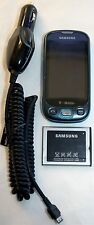 Samsung SGH-T749 T-Mobile Blue Highlight Cell Phone Touchscreen 3MP Camera text