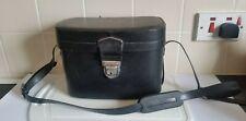 LARGE VINTAGE BLACK VINYL HARD CASE CAMERA PHOTOGRAPHY EQUIPMENT BAG CASE