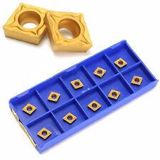 10x ccmt060204-hm YBC251 Carburo Inserto scatola per tornio cnc taglio STRUMENTI