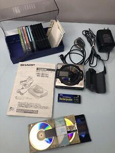Sharp MD-MS702 Portable Minidisc Player Recorder with 15 Discs *Plz Read Descrpt
