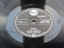 Elvis PRESLEY UK 1959 r.c.a 78 non vi Scongiuro