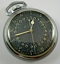Hamilton 4992B G.C.T. Pocket Watch U.S. 4C64120 Navigation Military w/ Box