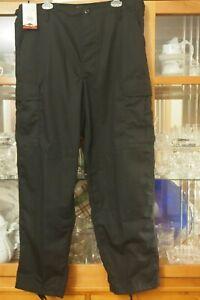 TRU-SPEC Men's Tactical Pants Size Large Regular Black Combat Cargo Trousers NWT