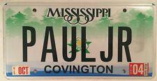 Vanity PAUL JR JUNIOR license plate Pauline Paulie Paolo Paula Pauli Paulo Pavel