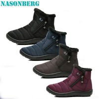 NASONBERG Women Waterproof Winter Snow Boots Ladies Fur Lined Shoes Slip On Warm