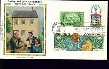 1981 FDC - Scott# 1911 COMBO - Savings & Loan - Colorano Silk Cachet   UA