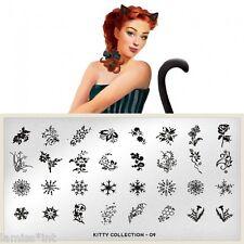 MoYou London KITTY 9 Collection Stamping Schablone, Schneeflocke Blume
