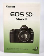 Canon Eos 5D Mark Ii Instruction Manual, Digital Slr Camera Body, Ex