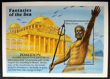 1996 Sierra Leone Fantasies Of The Sea Poseidon Stamps Souvenir Sheet Mythology