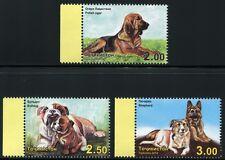 Tadschikistan Tajikistan 2014 Hunde Bulldogge Schäferhund Bracke 677-679 A MNH