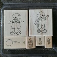 Stampin' Up BEARY BEST FRIENDS Set of 6 Rubber Stamps Lot Build a Bear Workshop