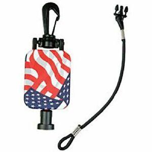 "Gear Keeper RT2-4212 23"" FLAG Star Stripe Retractable CB Radio Microphone Hanger"