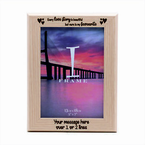 Personalised Valentines ~ Love ~ Contemporary Wooden Photo Frame