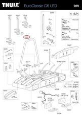 U-sembra STAFFA 928/929 PER EUROCLASSIC g6 bicicletta supporto post