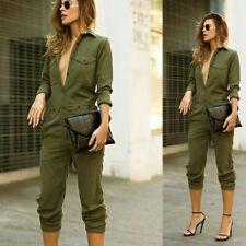 Women Jeans Jumpsuit Casual Oversized Boyfriend Baggy Denim Overall Romper Pants