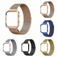 Magnetic Stainless Steel Wrist Watch Band Strap Metal Frame For Fitbit Blaze US