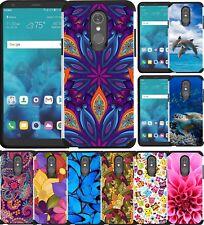 LG Stylo 5 Case Hybrid Shockproof Dual Layer Phone Cover Vivid Color Design
