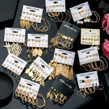 Crystal Acrylic Pearl Boho Womens Earrings Set Ear Stud Drop Dangle Jewelry 2020