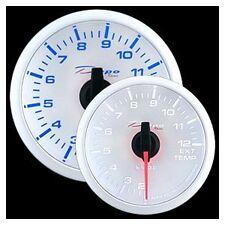 Manometro Temperatura Gas Di Scarico 200-1200° EGT DEPO Racing Bianco luce Blu