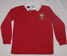 "Childs Red WALES RUGBY SHIRT, size 33"" ,approx 11-12 yrs,  Welsh, Cymru"
