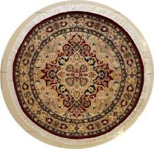 Rugstc 4x4 Senneh Pak Persian Red Area Rug, Hand-Knotted,Floral with Wool Pile
