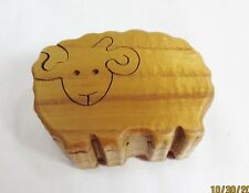 WOODEN PUZZLE TRINKET JEWELRY BOX