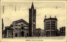 Parma Italien alte s/w AK 1936 Duomo e Battistero Partie am Dom und Baptisterium
