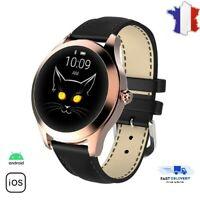 Montre intelligente connectée femmes fréquence cardiaque Smartwatch IOS Android