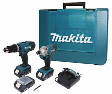 Kit Trapano avvitatore c/percussione+Avvitatore impulsi 18V Litio Makita DK18015