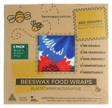 Beeswax Wraps Australian Made Kitchen 4 Pack