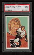 PSA 9 BOBBY CLARKE 1985 Hall of Fame Hockey Card #258 High Number Extension