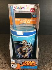 Star Wars The Force Awakens Snackeez Jr Snack & Drink Cup C3PO & R2D2 New