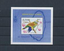 LM39221 St Vincent parrot animals birds good sheet MNH