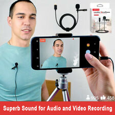USA 1.5m Wired Professional Lavalier Lightning Microphone for iPhone&iPad video