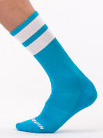 Barcode Berlin Gym Chaussettes Turquoise/Blanc 91366/401 Sexy Soldes Foudre