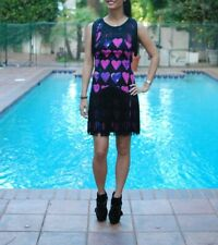 Versace for HM H&M  fringe hearts super fans party dress size 6