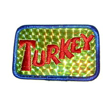 Vtg 1960's 70's Hippie Hippy Expression Shiny Rainbow Patch Turkey!