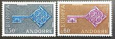 Andorra France, Europa issue, SC#182-183. MNH Scott CV $16.50
