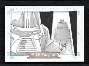 2004 The Complete Battlestar Galactica Cylon's Sketch Card By Artist John Czop