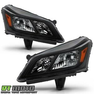 2013-2017 Chevy Traverse Black Headlights Headlamps Replacement Pair Left+Right