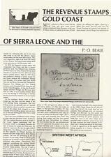 REVENUE STAMPS OF SIERRA LEONE & THE GOLD COAST - T4EAR SHEET